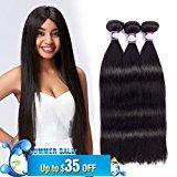 8A Brazilian Straight Human Hair 3 Bundles 16 inch Brazilian Virgin Hair Straight Brazilian Hair Weave Remy Hair Extensions