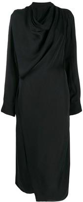 Low Classic cowl neck wrap dress