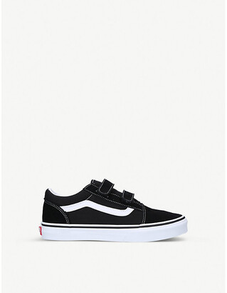 Vans Old Skool V suede and canvas low-top trainers 9-10 years