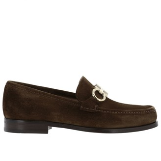 Salvatore Ferragamo Loafers Rolo Moccasin In Suede