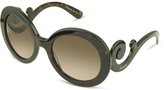 Prada Swirled Temple Large Frame Sunglasses