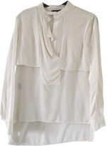 BCBGMAXAZRIA White Silk Top for Women