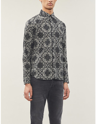 The Kooples Paisley relaxed-fit cotton shirt