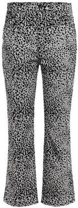 Rag & Bone Hana Flocked High-rise Kick-flare Jeans