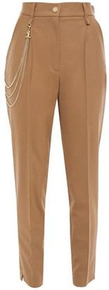 Just Cavalli Chain-embellished Crepe Tapered Pants