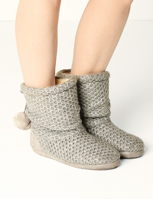 Marks and Spencer Snuggle Slipper Boots with Memory Foam