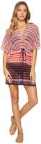 MICHAEL Michael Kors Abby Stripe V-Neck Caftan Cover-Up Women's Swimwear