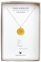 Dogeared Women's 'Legacy Collection - You Alone Are Enough' Pendant Necklace