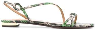 Aquazzura Serpentine flat sandals
