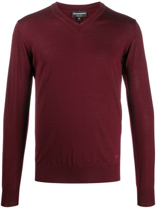 Emporio Armani regular-fit V-neck pullover