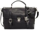 Frye Logan Leather Buckle Briefcase