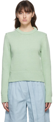 Tibi Green Yarn Shrunken Sweater