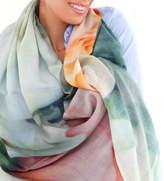 Lenox Lincoln + Ladies Silk Cashmere Floral Pastel Scarf, Peonies