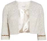 Gina Bacconi Jacquard Jacket With Trim, Gold