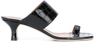 Paris Texas Coconut Moc-Croc 45mm sandals