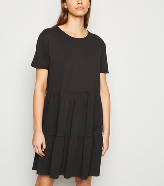 New Look Short Sleeve Mini Smock Dress