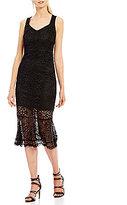 Jax Lace Ruffle Hem Midi Dress