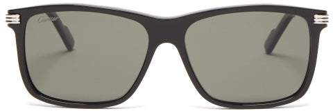 Cartier Eyewear - Premiere De Square Acetate Sunglasses - Mens - Black