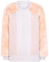 Stella McCartney Virgin Wool Sweater With Faux Fur