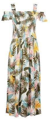 Dorothy Perkins Womens **Tall Pink Palm Print Midi Dress, Pink