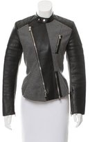 3.1 Phillip Lim Leather-Trimmed Biker Jacket