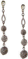 Lydell NYC Pave Crystal Fireball Multi-Drop Earrings, Gunmetal