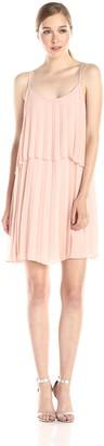 BCBGeneration Women's Sleeveless Sunburst High/Low Pleated Dress