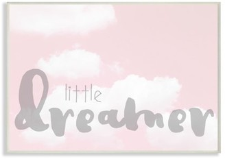 The Kids Room by Stupell Little Dreamer Typography Pink Clouds Oversized Framed Giclee Texturized Art, 16 x 1.5 x 20
