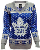 Klew Toronto Maple Leafs V-Neck Ugly Sweater