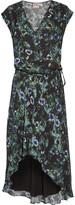 Haute Hippie Asymmetric ruffled floral-print crepe de chine dress
