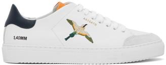 Axel Arigato SSENSE Exclusive White and Orange Bird Clean 90 Sneakers