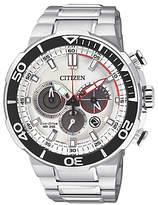 Citizen Ca4250-54a Eco-drive Chronograph Date Bracelet Strap Watch, Silver/white