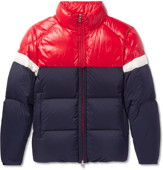Moncler Konic Slim-Fit Colour-Block Quilted Shell Down Jacket