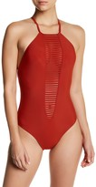 Red Carter Convertible Strap One-Piece Swimsuit