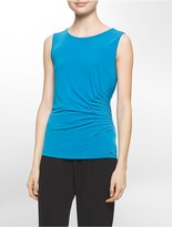 Calvin Klein Side Ruched Sleeveless Top