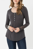 Others Follow Lace Sleeves Top
