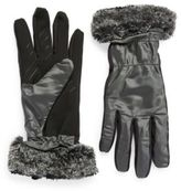 Ur Powered Faux Fur-Trimmed Gloves
