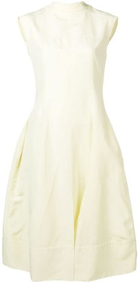 Jil Sander Mock Neck Flared Dress