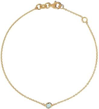 Botier 18kt yellow gold Eyes Wide Shut aquamarine bracelet