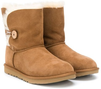 Ugg Kids TEEN shearling buttoned boots