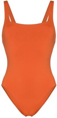 BONDI BORN Margot square-neck swimsuit