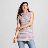 Cliche Women's Sleeveless Turtleneck Sweater grey