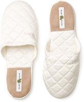 Kumi Kookoon Silk Slippers, White