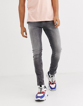 Tommy Jeans simon skinny jeans in gray