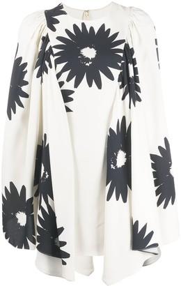 Stella McCartney Floral Print Bell Sleeves Dress
