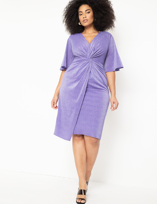ELOQUII Sparkle Midi Dress