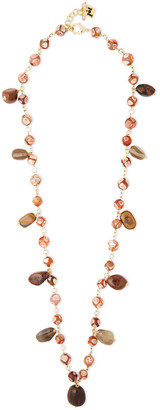 Rosantica Gold-tone, Bead And Stone Necklace