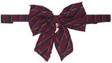 Maison Michel Corey Striped Bow-Tie
