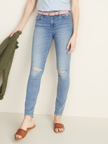 Old Navy Mid-Rise Pop Icon Skinny Distressed Jeans for Women