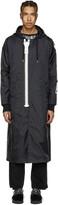Miharayasuhiro Black Massive Zip Hooded Coat
